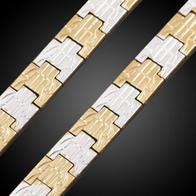 Фотография Noble Stitching Color Carving Box Chain Bracelet For Men