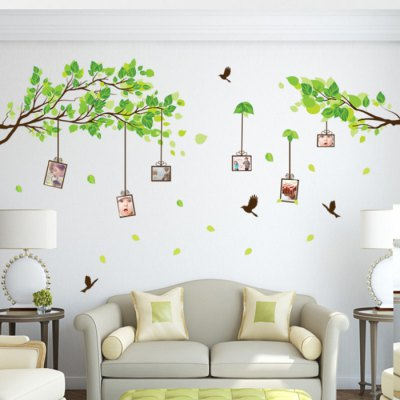 Branch Cage Photos Style Removable Wall StickerWall Stickers<br>Branch Cage Photos Style Removable Wall Sticker<br><br>Subjects: Landscape<br>Art Style: Plane Wall Stickers<br>Functions: Decorative Wall Stickers<br>Hang In/Stick On: Bathroom,Car,Living Rooms,Bedrooms,Nurseries,Offices,Cafes,Hotels,Toilet,Stair,Lobby,Kids Room<br>Material: Vinyl(PVC)<br>Layout Size (L x W): 90 x 60cm<br>Effect Size (L x W): 176 x 88cm<br>Product weight: 0.150 kg<br>Package weight: 0.210 kg<br>Product size (L x W x H): 90 x 60 x 0.1 cm / 35.37 x 23.58 x 0.04 inches<br>Package size (L x W x H): 61 x 4 x 4 cm / 23.97 x 1.57 x 1.57 inches<br>Package Contents: 1 x Wall Sticker