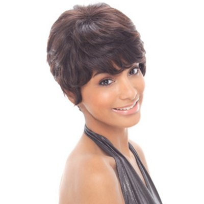 Fashion Human Hair Skilful Short Charming Curly Side Bang Capless Wig For WomenMixed Hair Wigs<br>Fashion Human Hair Skilful Short Charming Curly Side Bang Capless Wig For Women<br><br>Type: Full Wigs<br>Style: Curly<br>Material: Human Hair<br>Bang Type: Side<br>Length: Short<br>Weight: 0.16KG<br>Package Contents: 1 ? Wig