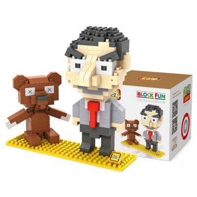 LOZ 340Pcs L - 9507 Mr. Bean Building Block Toy for Enhancing Social Cooperation Ability