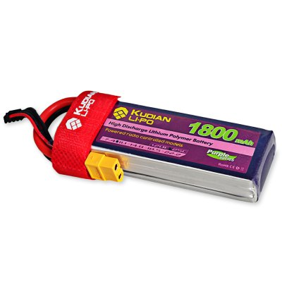 Extra Kudian XT60 Plug 3S 11.1V 1800mAh 25C Battery for RC Multirotor Boat Model