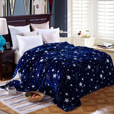 Quality Starry Sky Pattern Super Soft Warm Polyester Colorful Blanket