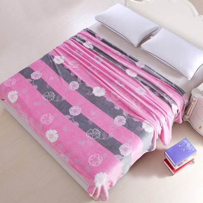 Quality Flower Pattern Super Soft Warm Polyester Colorful Blanket
