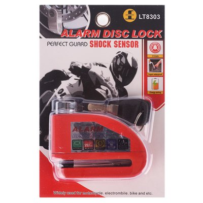 IZTOSS L1003R Anti-Theft Alarm Disk Brake LockOther  Motorcycle Accessories<br>IZTOSS L1003R Anti-Theft Alarm Disk Brake Lock<br><br>Accessories type : Disk brake lock<br>Function: Anti-theft<br>Material: Zinc alloy<br>Avaliable Color : Pink,Black,Red,Orange,Yellow,Silver<br>Applicable Motorcycle Brand: Universal<br>Applicable models: Universal<br>Product weight: 0.526 kg<br>Package weight: 0.680 kg<br>Product size (L x W x H): 9 x 3 x 6.8 cm / 3.54 x 1.18 x 2.67 inches<br>Package size (L x W x H): 19.5 x 4.8 x 13 cm / 7.66 x 1.89 x 5.11 inches<br>Package Contents: 1 x Motorcycle Alarm Disc Brake Lock, 2 x Key
