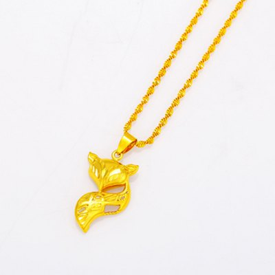 Noble Fox Shape Pendant For WomenNecklaces &amp; Pendants<br>Noble Fox Shape Pendant For Women<br><br>Pendant Type: Slide<br>Gender: For Women<br>Style: Trendy<br>Pattern: Animal<br>Width: 1.8CM<br>Height: 3.4CM<br>Weight: 0.053KG<br>Package Contents: 1 x Pendant