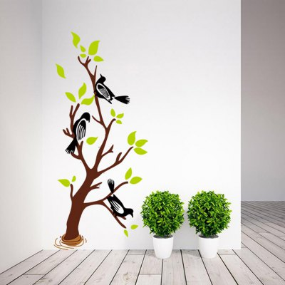 Tree Branch Bird Style Wall StickersWall Stickers<br>Tree Branch Bird Style Wall Stickers<br><br>Subjects: Landscape,Still Life,Animal<br>Art Style: Plane Wall Stickers<br>Functions: Decorative Wall Stickers<br>Hang In/Stick On: Bathroom,Living Rooms,Bedrooms,Nurseries,Offices,Cafes,Hotels,Toilet,Stair,Lobby,Kids Room<br>Material: Vinyl(PVC)<br>Layout Size (L x W): 70 x 50cm<br>Effect Size (L x W): 126 x 56cm<br>Product weight: 0.080 kg<br>Package weight: 0.129 kg<br>Product size (L x W x H): 70 x 50 x 0.1 cm / 27.51 x 19.65 x 0.04 inches<br>Package size (L x W x H): 51 x 4 x 4 cm / 20.04 x 1.57 x 1.57 inches<br>Package Contents: 1 x Wall Sticker