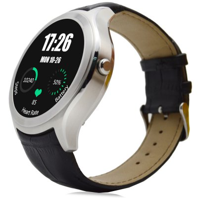 NO.1 D5 Android 4.4 Smart Watch WIFI GPS SmartwatchSmart Watches<br>NO.1 D5 Android 4.4 Smart Watch WIFI GPS Smartwatch<br><br>Brand: NO.1<br>Built-in chip type: MTK6572<br>Bluetooth version: Bluetooth 4.0<br>RAM: 512MB<br>ROM: 4GB<br>Waterproof: Yes<br>IP rating: Life water resistance<br>Bluetooth calling: Dialing,Phonebook<br>Messaging: Message checking<br>Health tracker: Heart rate monitor,Pedometer<br>Remote control function: Remote music<br>Notification: Yes<br>Notification type: Facebook<br>Other function: Alarm,Barometer,GPS,WiFi<br>Screen: IPS<br>Screen resolution: 360 x 360<br>Screen size: 1.3 inch<br>Operating mode: Touch Screen<br>Type of battery: Polymer lithium battery<br>Battery Capacty: 450mAh<br>Charging time: About 2hours<br>Standby time: About 4 days<br>People: Female table,Male table<br>Shape of the dial: Round<br>Case material: Aluminium Alloy<br>Band material: Leather<br>Compatible OS: Android,IOS<br>Compatability: Android 4.3 / iOS 7.0 or above system<br>Language: Arabic,Czech,Danish,English,Filipino,Finnish,French,German,Greek,Hebrew,Indonesian,Italian,Korean,Latvian,Lithuanian,Malay,Myanmar,Norwegian,Persian,Polish,Portuguese,Romanian,Russian,Simplified Chine<br>Available color: Black,Silver<br>Dial size: 4.6 x 4.6 x 1.3 cm / 1.81 x 1.81 x 0.51 inches<br>Wearing diameter: 18 - 22 cm / 7.09 - 8.66 inches<br>Product size (L x W x H): 25.60 x 4.60 x 1.30 cm / 10.08 x 1.81 x 0.51 inches<br>Package size (L x W x H): 12.00 x 10.00 x 8.00 cm / 4.72 x 3.94 x 3.15 inches<br>Product weight: 0.060 kg<br>Package weight: 0.205 kg<br>Package Contents: 1 x NO.1 D5 Smart Watch, 1 x Charging Dock, 1 x USB Charging Cable, 1 x Chinese and English Manual
