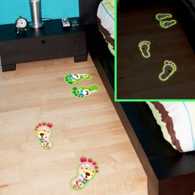 Little Feet Style Luminous Wall Stickers