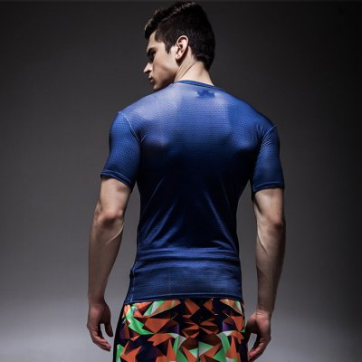 Modish Round Neck Men Slim T-shirt with 3D PatternWeight Lifting Clothes<br>Modish Round Neck Men Slim T-shirt with 3D Pattern<br><br>Types: Short Sleeves<br>Size: 2XL,M,L,XL<br>Features: High elasticity,Breathable,Quick Dry<br>Gender: Men<br>Material: Polyester<br>Product weight: 0.200 kg<br>Package weight: 0.250 kg<br>Package size: 30.000 x 25.000 x 3.000 cm / 11.811 x 9.843 x 1.181 inches<br>Package Content: 1 x Men Slim T-shirt