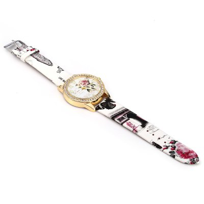 Ladies Quartz WatchWomens Watches<br>Ladies Quartz Watch<br><br>Watches categories: Female table<br>Style: Diamond<br>Movement type: Quartz watch<br>Shape of the dial: Round<br>Display type: Analog<br>Case material: Alloy<br>Band material: Leather<br>Clasp type: Pin buckle<br>Water resistance : Life water resistant<br>The dial thickness: 0.9 cm / 0.35 inches<br>The dial diameter: 4 cm / 1.57 inches<br>The band width: 2 cm / 0.79 inches<br>Wearable length: 18.5 - 22 cm / 7.28 - 8.66 inches<br>Product weight: 0.0360 kg<br>Package weight: 0.0960 kg<br>Product size (L x W x H): 24.50 x 4.00 x 0.90 cm / 9.65 x 1.57 x 0.35 inches<br>Package size (L x W x H): 25.50 x 5.00 x 1.90 cm / 10.04 x 1.97 x 0.75 inches<br>Package Contents: 1 x Ladies Quartz Watch