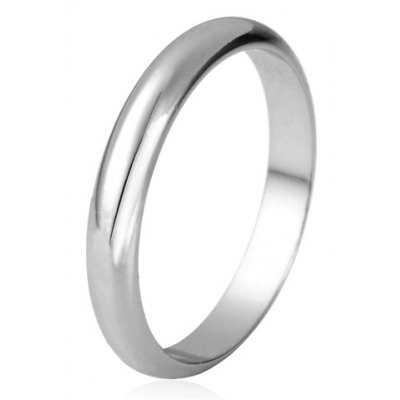 Simple Style Solid Color Round Ring For Women