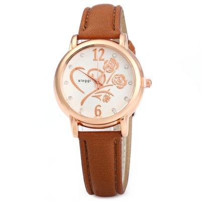 Women Quartz Wrist WatchWomens Watches<br>Women Quartz Wrist Watch<br><br>Watches categories: Female table<br>Available color: White, Purple, Pink, Yellow, Red, Coffee, Blue, Rose Red, Green<br>Style: Stainless steel<br>Movement type: Quartz watch<br>Shape of the dial: Round<br>Display type: Analog<br>Case material: Stainless steel<br>Band material: PU leather<br>Clasp type: Pin buckle<br>The dial thickness: 1 cm / 0.39 inches<br>The dial diameter: 3.2cm / 1.25 inches<br>The band width: 1.5 cm / 0.59 inches<br>Wearable length: 22 cm / 8.66 inches<br>Product weight: 0.030 kg<br>Package weight: 0.090 kg<br>Product size (L x W x H) : 24.5 x 1.5 x 1 cm / 9.63 x 0.59 x 0.39 inches<br>Package size (L x W x H): 26.5 x 5 x 1 cm / 10.41 x 1.97 x 0.39 inches<br>Package contents: 1 x Women Bracelet Quartz Wrist Watch with Rose Pattern Rhinestone Decoration
