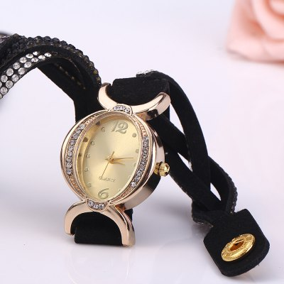Women Bracelet Analog Wrist WatchWomens Watches<br>Women Bracelet Analog Wrist Watch<br><br>Watches categories: Female table<br>Style: Bracelet<br>Movement type: Quartz watch<br>Shape of the dial: Round<br>Display type: Analog<br>Case material: Alloy<br>Band material: Leather<br>Clasp type: Buckle<br>The dial thickness: 0.8 cm / 0.31 inches<br>The dial diameter: 2.5 cm / 0.98 inches<br>The band width: 1.3 cm / 0.51 inches<br>Product weight: 0.030 kg<br>Package weight: 0.090 kg<br>Product size (L x W x H) : 38.5 x 2.5 x 0.8 cm / 15.13 x 0.98 x 0.31 inches<br>Package size (L x W x H): 18 x 4.5 x 1.8 cm / 7.07 x 1.77 x 0.71 inches<br>Package contents: 1 x Women Bracelet Quartz Wrist Watch