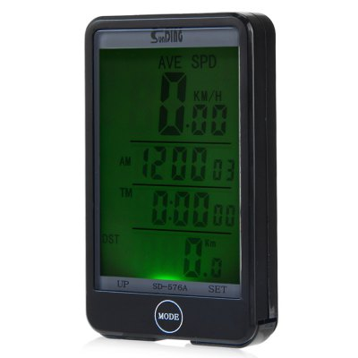 SD - 576A Auto Light Mode Touch Wired Bicycle Computer Odometer with Line Control