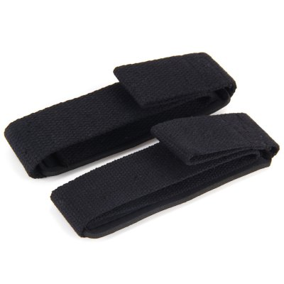 1 Pair Grip StrapsSports Protective Gear<br>1 Pair Grip Straps<br><br>Type: Wrist Support<br>Color: Black<br>Material: Foam Rubber<br>Target User: Unisex<br>Product Weight: 0.068 kg<br>Package Weight: 0.088 kg<br>Product Size: 55.5 x 4 x 0.7 cm / 21.81 x 1.57 x 0.28 inches<br>Package Size: 8 x 4 x 6 cm / 3.14 x 1.57 x 2.36 inches<br>Package Content: 1 x 1 Pair Grip Straps