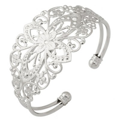 Noble Solid Color Blossom Hollow Out Bracelet For Women