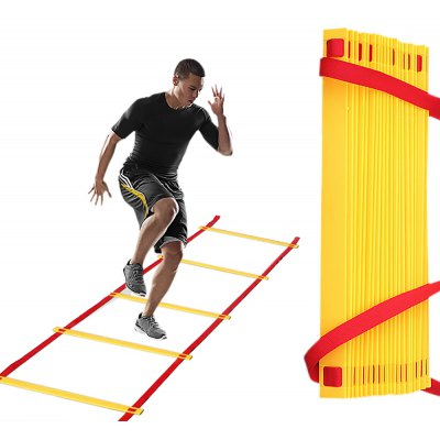 Fitness Speed Agility Training Ladder with Carry Bag 8 Rung 4 Meters