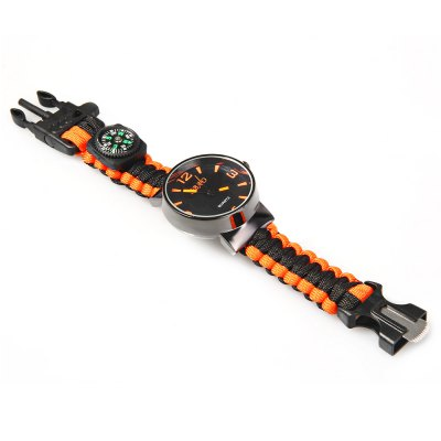 Paracord Survival Bracelet Watch