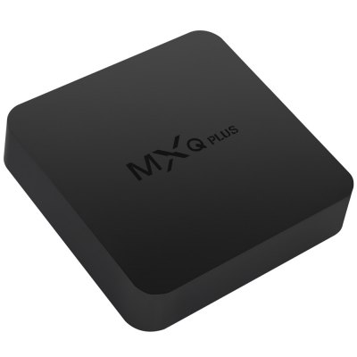 MXQ Plus TV Box Android 5.1TV Box &amp; Mini PC<br>MXQ Plus TV Box Android 5.1<br><br>Model: MXQ Plus<br>Type: TV Box<br>GPU: Mali-450 MP6<br>System: Android 5.1<br>CPU: Amlogic S905<br>Core: Quad Core<br>RAM: 1G<br>ROM: 8G<br>Max. Extended Capacity: TF card up to 32GB (not included)<br>Color: Black<br>Video format: H.265,H.264,H.263,MPEG4,MPEG2,MPEG-1,VC-1,MVC,AVS,VP8,RV10<br>Audio format: WMA,AAC,OGG,WAV,M4A,FLAC,APE,OGA<br>Photo Format: JPEG,GIF,BMP,PNG,JPG,TIFF<br>Power Supply: Charge Adapter<br>Interface: HDMI,USB2.0,AV,SD Card Slot,DC 5V,SPDIF,Ethernet<br>System Bit: 64Bit<br>WiFi Chip: RTL8189<br>KODI Pre-installed: Yes<br>KODI Version: 15.2<br>Firmware Version: Android 5.1<br>Product weight: 0.154 kg<br>Package weight: 0.440 kg<br>Product size (L x W x H): 11.50 x 11.50 x 2.50 cm / 4.53 x 4.53 x 0.98 inches<br>Package size (L x W x H): 24.00 x 15.20 x 6.20 cm / 9.45 x 5.98 x 2.44 inches<br>Package Contents: 1 x MXQ Plus TV Box, 1 x HDMI Cable, 1 x Power Adapter, 1 x Remote Controller