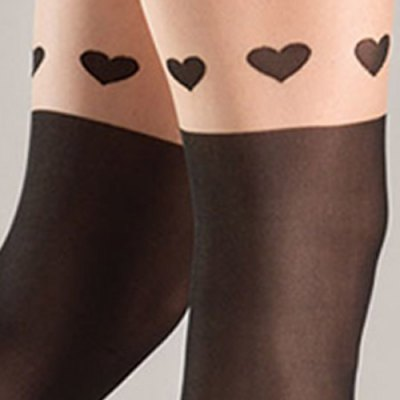 Sexy Elastic Waist Spliced Heart Pattern Women