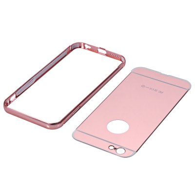 2 in 1 Metal Frame Mirror Cover Case for iPhone 6 6siPhone Cases/Covers<br>2 in 1 Metal Frame Mirror Cover Case for iPhone 6 6s<br><br>Features: Bumper Frame<br>Material: Metal, Acrylic<br>Style: Solid Color<br>Product weight: 0.023 kg<br>Package weight: 0.071 kg<br>Product size (L x W x H) : 14.10 x 7.00 x 0.80 cm / 5.54 x 2.75 x 0.31 inches<br>Package size (L x W x H): 14.15 x 7.06 x 0.84 cm / 5.56 x 2.77 x 0.33 inches<br>Package Contents: 1 x 2 in 1 Metal Ultrathin Detachable Bumper Mirror Hard Back Case Cover for iPhone 6 6s