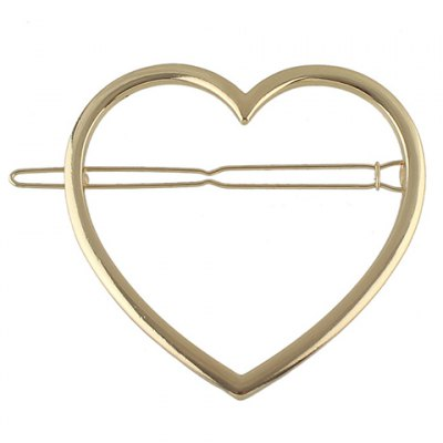 Фотография Simple Style Solid Color Heart Hairgrip For Women