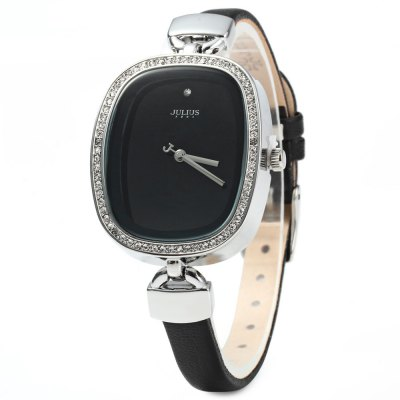 Julius JA - 298 Women Quartz Watch - JuliusWomens Watches<br>Julius JA - 298 Women Quartz Watch<br><br>Brand: Julius<br>Watches categories: Female table<br>Available color: Brown, Coffee, Black, White<br>Style: Diamond<br>Movement type: Quartz watch<br>Shape of the dial: Oval<br>Display type: Analog<br>Case material: Stainless steel<br>Band material: Leather<br>Clasp type: Pin buckle<br>Water resistance : 30 meters<br>The dial thickness: 1 cm / 0.39 inches<br>The dial diameter: 3 cm / 1.18 inches<br>The band width: 0.8 cm / 0.31 inches<br>Wearable length: 17 - 20.5 cm / 6.69 - 8.07 inches<br>Product weight: 0.037 kg<br>Package weight: 0.107 kg<br>Product size (L x W x H) : 22.5 x 3 x 1 cm / 8.84 x 1.18 x 0.39 inches<br>Package size (L x W x H): 23.5 x 4 x 2 cm / 9.24 x 1.57 x 0.79 inches<br>Package contents: 1 x Julius JA - 298 Ladies Rhinestone Quartz Watch