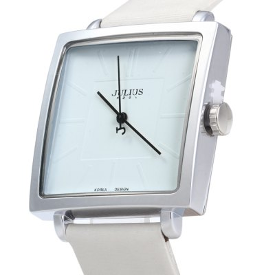 Julius JA - 354 Ultrathin Square Dial Analog Unisex Quartz WatchUnisex Watches<br>Julius JA - 354 Ultrathin Square Dial Analog Unisex Quartz Watch<br><br>Brand: Julius<br>People: Unisex table<br>Watch style: Fashion<br>Available color: White, Brown, Gold, Black<br>Shape of the dial: Square<br>Movement type: Quartz watch<br>Display type: Analog<br>Case material: Stainless steel<br>Band material: Leather<br>Clasp type: Pin buckle<br>Water resistance: 30 meters<br>The dial thickness: 0.8 cm / 0.31 inches<br>The dial diameter: 3.4 cm / 1.34 inches<br>The band width: 1.9 cm / 0.75 inches<br>Wearable length: 17.5 - 21.5 cm / 6.89 - 8.46 inches<br>Product weight: 0.035 kg<br>Package weight: 0.090 kg<br>Product size (L x W x H) : 24 x 3.4 x 0.8 cm / 9.43 x 1.34 x 0.31 inches<br>Package size (L x W x H): 25 x 4.4 x 1.8 cm / 9.83 x 1.73 x 0.71 inches<br>Package contents: 1 x Julius JA - 354 Square Leather Unisex Quartz Watch