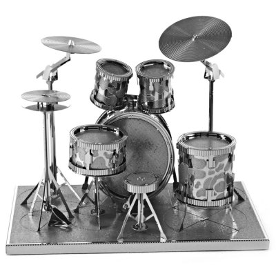 Drum Set 3D Metallic Puzzle