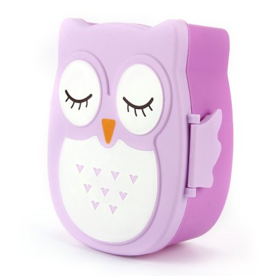 Cartoon Owl Lunch BoxDinnerware<br>Cartoon Owl Lunch Box<br><br>Color: Pink,Blue,Purple,Yellow<br>For: All<br>Material: PP<br>Occasion: School, Office, Dining Room, Kitchen Room, Home, Outdoor<br>Package Contents: 1 x Cartoon Owl Lunch Box Food Fruit Plastic Storage Container Bento Box for Children Kids<br>Package size (L x W x H): 17 x 14 x 8 cm / 6.68 x 5.50 x 3.14 inches<br>Package weight: 0.140 kg<br>Product size (L x W x H): 15 x 12 x 6.5 cm / 5.90 x 4.72 x 2.55 inches<br>Product weight: 0.096 kg<br>Type: Practical, Eco-friendly