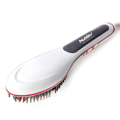 NASV - 100 Straight Hair Comb BrushHair Care<br>NASV - 100 Straight Hair Comb Brush<br><br>Category: Straight Hair Comb / Hair Straightener<br>Material: Eectronic Cmponents,ABS<br>Type: Electric<br>Color: Pink,White<br>Season: All seasons<br>Occasion: Daily<br>Application: Hair<br>Power Supply: Power<br>Cable length: 2m<br>Control Temperature: 80 - 230 Deg.C<br>Product weight: 0.448KG<br>Package weight: 0.590 KG<br>Product size (L x W x H): 27.000 x 7.200 x 4.500 cm / 10.63 x 2.835 x 1.772 inches<br>Package size (L x W x H): 34.000 x 15.000 x 10.000 cm / 13.386 x 5.906 x 3.937 inches<br>Package Contents: 1 x NASV - 100 Straight Hair Comb Hair Brush Dryer Fashion Beauty Gadget, 1 x Bilingual User Manual in English and Chinese