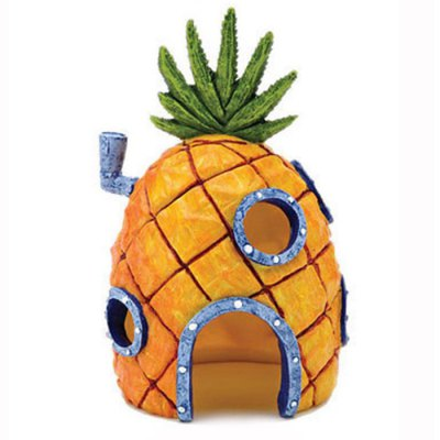 Pineapple Head House Style Fish Tank Decors