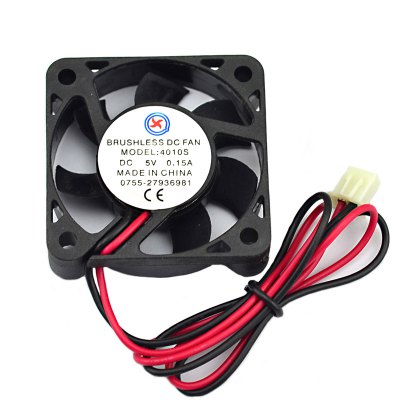 Jtron DC 5V 0.15A Plastic Heatsink Cooling FanCPU Cooler<br>Jtron DC 5V 0.15A Plastic Heatsink Cooling Fan<br><br>Type: Cooling Fan<br>Rated Voltage: 5V DC<br>Rated Current: 0.15A<br>Speed: 5000 - 5500RPM<br>Certificate: CE<br>Color: Black<br>Material: Plastic<br>Product weight: 0.018 kg<br>Package weight: 0.070 kg<br>Product size (L x W x H): 3.9 x 3.9 x 1 cm / 1.53 x 1.53 x 0.39 inches<br>Package size (L x W x H): 10 x 5 x 3 cm / 3.93 x 1.97 x 1.18 inches<br>Package Contents: 1 x Jtron DC 5V 0.15A Plastic Heatsink Cooling Fan