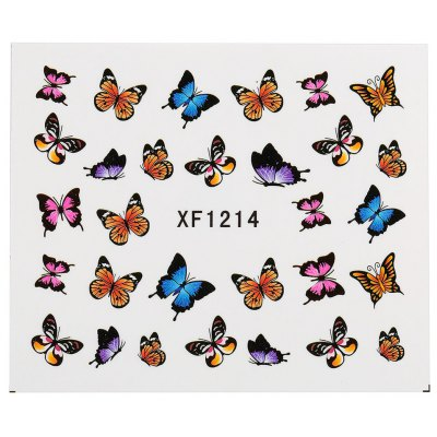 Watermark Butterflies Lace 3D Nail Art Stickers Decals