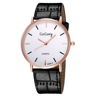 GOGOEY 2746 Simple Male Quartz Watch with PU Band