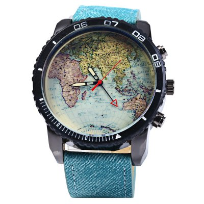 JUBAOLI Quartz Watch with Map Pattern for Men - JubaoliMens Watches<br>JUBAOLI Quartz Watch with Map Pattern for Men<br><br>Brand: Jubaoli<br>Watches categories: Male table<br>Watch style: Casual<br>Available color: Deep Blue<br>Movement type: Quartz watch<br>Shape of the dial: Round<br>Display type: Analog<br>Case material: Stainless Steel<br>Band material: Canvas + Leather<br>Clasp type: Pin buckle<br>The dial thickness: 1.2 cm / 0.47 inches<br>The dial diameter: 5.2 cm / 2.04 inches<br>The band width: 2.3 cm / 0.91 inches<br>Wearable length: 17 - 21 cm / 6.69 - 8.27 inches<br>Product weight: 0.082 kg<br>Package weight: 0.132 kg<br>Product size (L x W x H): 26 x 5.2 x 1.2 cm / 10.22 x 2.04 x 0.47 inches<br>Package size (L x W x H): 27 x 6.2 x 2.2 cm / 10.61 x 2.44 x 0.86 inches<br>Package Contents: 1 x JUBAOLI Watch