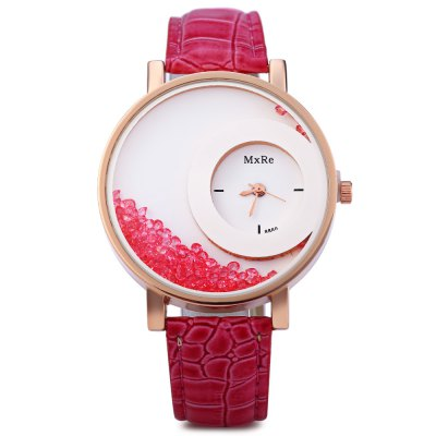 Female Quartz WatchWomens Watches<br>Female Quartz Watch<br><br>Watches categories: Female table<br>Style: Diamond<br>Movement type: Quartz watch<br>Shape of the dial: Round<br>Display type: Analog<br>Case material: Alloy<br>Band material: Leather<br>Clasp type: Pin buckle<br>Water resistance : Life water resistant<br>The dial thickness: 0.8 cm / 0.31 inches<br>The dial diameter: 4 cm / 1.57 inches<br>The band width: 1.7 cm / 0.67 inches<br>Wearable length: 18 - 21.5 cm / 7.09 - 8.46 inches<br>Product weight: 0.039 kg<br>Package weight: 0.099 kg<br>Product size (L x W x H): 24.00 x 4.00 x 0.80 cm / 9.45 x 1.57 x 0.31 inches<br>Package size (L x W x H): 25.00 x 5.00 x 1.80 cm / 9.84 x 1.97 x 0.71 inches<br>Package Contents: 1 x Ladies Quartz Watch