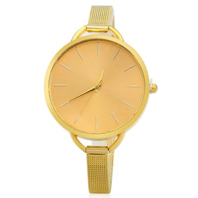 Women Quartz Watch Slim Stainless Steel Mesh Band Big Round DialWomens Watches<br>Women Quartz Watch Slim Stainless Steel Mesh Band Big Round Dial<br><br>Watches categories: Female table<br>Style: Big dial<br>Movement type: Quartz watch<br>Display type: Analog<br>Case material: Stainless Steel<br>Band material: Stainless Steel<br>Clasp type: Pin buckle<br>The dial thickness: 0.7 cm / 0.28 inches<br>The dial diameter: 3.8 cm / 1.50 inches<br>The band width: 0.8 cm / 0.31 inches<br>Wearable length: 17 - 21.5 cm / 6.69 - 8.46 inches<br>Product weight: 0.034 kg<br>Package weight: 0.094 kg<br>Product size (L x W x H): 23.5 x 3.8 x 0.7 cm / 9.24 x 1.49 x 0.28 inches<br>Package size (L x W x H): 24.5 x 4.8 x 1.7 cm / 9.63 x 1.89 x 0.67 inches<br>Package Contents: 1 x Ladies Steel Analog Quartz Wrist Watch