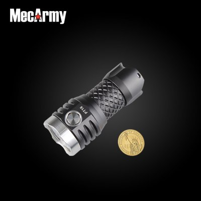MecArmy PT16 CREE XP - G2 1000LM Compact LED FlashlightLED Flashlights<br>MecArmy PT16 CREE XP - G2 1000LM Compact LED Flashlight<br><br>Brand: MecArmy<br>Model: PT16<br>Lamp Beads: Cree XP-G2<br>Beads Number: 3<br>Lumens Range: 500-1000Lumens<br>Luminous Flux: 1000Lm<br>Luminous Intensity: 4915cd<br>CCT: 5500-6500K<br>Switch Type: Side Clicky<br>Feature: Lanyard,Lightweight,Tail Stand<br>Function: Camping,EDC,Hiking,Household Use,Night Riding,Walking<br>Battery Type: 16340<br>Battery Quantity: 1 (not included)<br>Mode: 6(Turbo - High - Mid - Low - Strobe - SOS)<br>Rechargeable: Yes<br>Waterproof Standard: IPX-8 Standard Waterproof<br>Power Source: Battery<br>Working Voltage: 3.7-5V<br>Reflector: Aluminum Smooth Reflector<br>Lens: Glass Lens<br>Impact Resistance: 1.5M<br>Beam Distance: 100-150m<br>Body Material: Aluminium Alloy<br>Available Light Color: White<br>Available color: Black<br>Max.: 20h<br>Product weight: 0.040 kg<br>Package weight: 0.070 kg<br>Product size (L x W x H): 6.70 x 2.88 x 2.88 cm / 2.64 x 1.13 x 1.13 inches<br>Package size (L x W x H): 21.00 x 15.00 x 6.00 cm / 8.27 x 5.91 x 2.36 inches<br>Package Contents: 1 x MecArmy PT16 Keychain Flashlight, 1 x Lanyard, 1 x O-ring