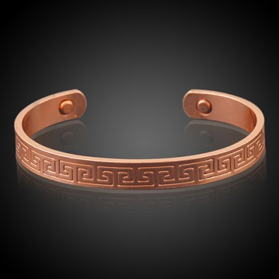 Stylish Carving Pattern Cuff Bracelet For Women