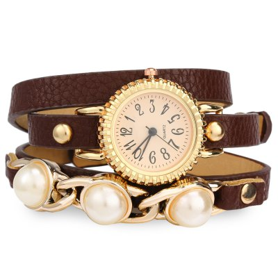 Ladies Bracelet Quartz WatchWomens Watches<br>Ladies Bracelet Quartz Watch<br><br>Watches categories: Female table<br>Style: Bracelet<br>Movement type: Quartz watch<br>Shape of the dial: Round<br>Display type: Analog<br>Case material: Alloy<br>Band material: Leather<br>Clasp type: Buckle<br>The dial thickness: 0.8 cm / 0.31 inches<br>The dial diameter: 2.8 cm / 1.10 inches<br>The band width: 0.9 cm / 0.35 inches<br>Product weight: 0.028 kg<br>Package weight: 0.088 kg<br>Product size (L x W x H): 57 x 2.8 x 0.8 cm / 22.40 x 1.10 x 0.31 inches<br>Package size (L x W x H): 28 x 4.8 x 1.8 cm / 11.00 x 1.89 x 0.71 inches<br>Package Contents: 1 x Female Bracelet Quartz Watch