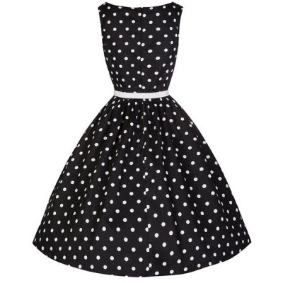 Attractive Polka Dot Printed Sleeveless Ball Gown Dress For WomenWomens Dresses<br>Attractive Polka Dot Printed Sleeveless Ball Gown Dress For Women<br><br>Style: Vintage<br>Material: Polyester<br>Silhouette: Ball Gown<br>Dresses Length: Knee-Length<br>Neckline: Boat Neck<br>Sleeve Length: Sleeveless<br>Pattern Type: Polka Dot<br>With Belt: Yes<br>Season: Fall<br>Weight: 0.197KG<br>Package Contents: 1 x Dress  1 x Belt