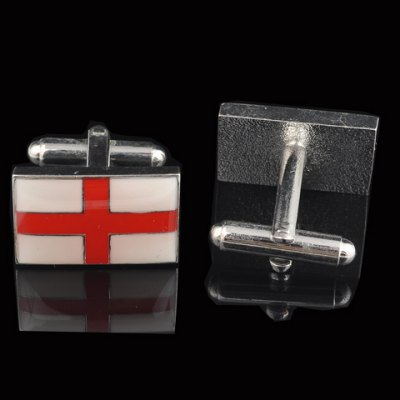 Pair of Stylish England Flag Design Alloy Cufflink For Men