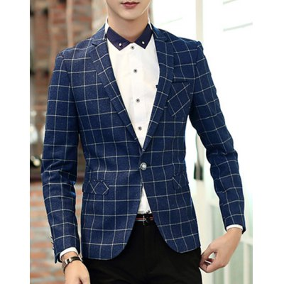 Turn-Down Collar Patch Pocket Long Sleeve Mens Plaid BlazerMens Blazers<br>Turn-Down Collar Patch Pocket Long Sleeve Mens Plaid Blazer<br><br>Material: Cotton Blends<br>Clothing Length: Regular<br>Closure Type: Single Breasted<br>Weight: 0.85KG<br>Package Contents: 1 X Blazer