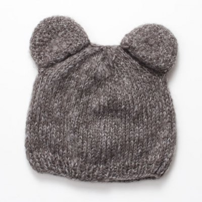 Stylish Little Mouse Shape Knitted Beanie For Kids
