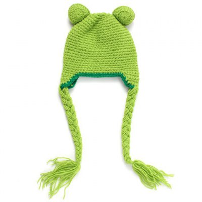 Stylish Frog Shape Knitted Beanie For Kids