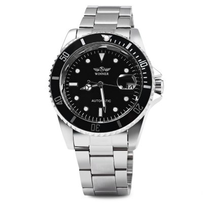 Winner W016 - 1 Business Automatic Mechanical WatchMens Watches<br>Winner W016 - 1 Business Automatic Mechanical Watch<br><br>Brand: Winner<br>Watches categories: Male table<br>Watch style: Business<br>Available color: Black,White<br>Movement type: Automatic mechanical watch<br>Shape of the dial: Round<br>Display type: Analog<br>Case material: Stainless Steel<br>Band material: Stainless Steel<br>Clasp type: Folding clasp with safety<br>Special features: Date<br>Water resistance : Life water resistant<br>The dial thickness: 1.2 cm / 0.47 inches<br>The dial diameter: 3.9 cm / 1.54 inches<br>The band width: 1.8 cm / 0.71 inches<br>Product weight: 0.108 kg<br>Package weight: 0.168 kg<br>Product size (L x W x H): 26.000 x 4.200 x 1.200 cm / 10.236 x 1.654 x 0.472 inches<br>Package size (L x W x H): 27.000 x 5.200 x 2.200 cm / 10.630 x 2.047 x 0.866 inches<br>Package Contents: 1 x Winner W016-1 Men Mechanical Watch
