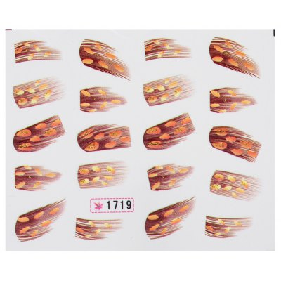 Art Tips Feather Water Transfers Nail Sticker for Ladies