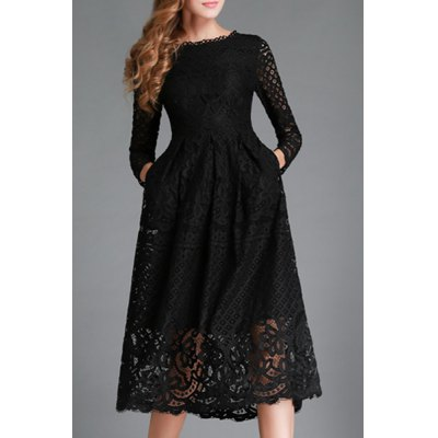 Ladylike Jewel Neck Long Sleeve Lace Solid Color Hollow Out Womens DressWomens Dresses<br>Ladylike Jewel Neck Long Sleeve Lace Solid Color Hollow Out Womens Dress<br><br>Style: Cute<br>Material: Polyester,Lace<br>Silhouette: A-Line<br>Dresses Length: Mid-Calf<br>Neckline: Jewel Neck<br>Sleeve Length: Long Sleeves<br>Pattern Type: Solid<br>With Belt: No<br>Season: Spring,Summer,Fall<br>Weight: 0.360KG<br>Package Contents: 1 x Dress