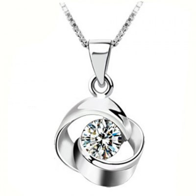 Chic Rhinestone Hollow Out Pendant Necklace For Women